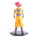 Dragonball Z Battle Of Gods Figuras Anime Goku 15cm Red Hair Model Banpresto DXF SYP 0024