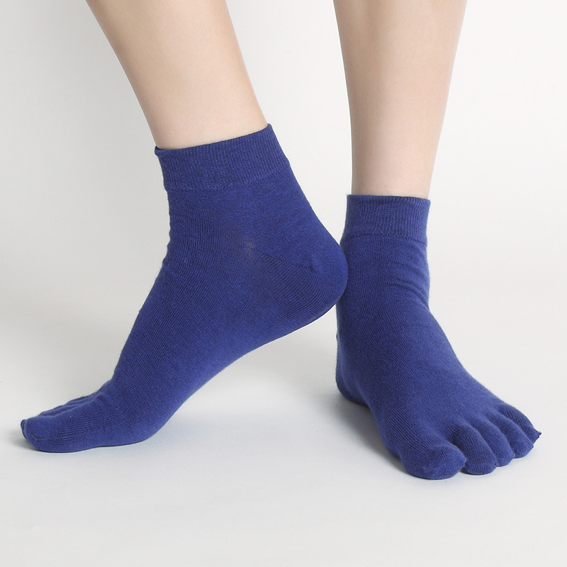 Summer Thin Section Men Breathable Five Toe Socks Antibacterial Deodorant Male Business Cotton Finger Sock(China (Mainland))
