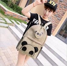 New 2016 High Quality  Cute Panda   women backpack school backpack  school book bag for teenager girls College student mochila(China (Mainland))