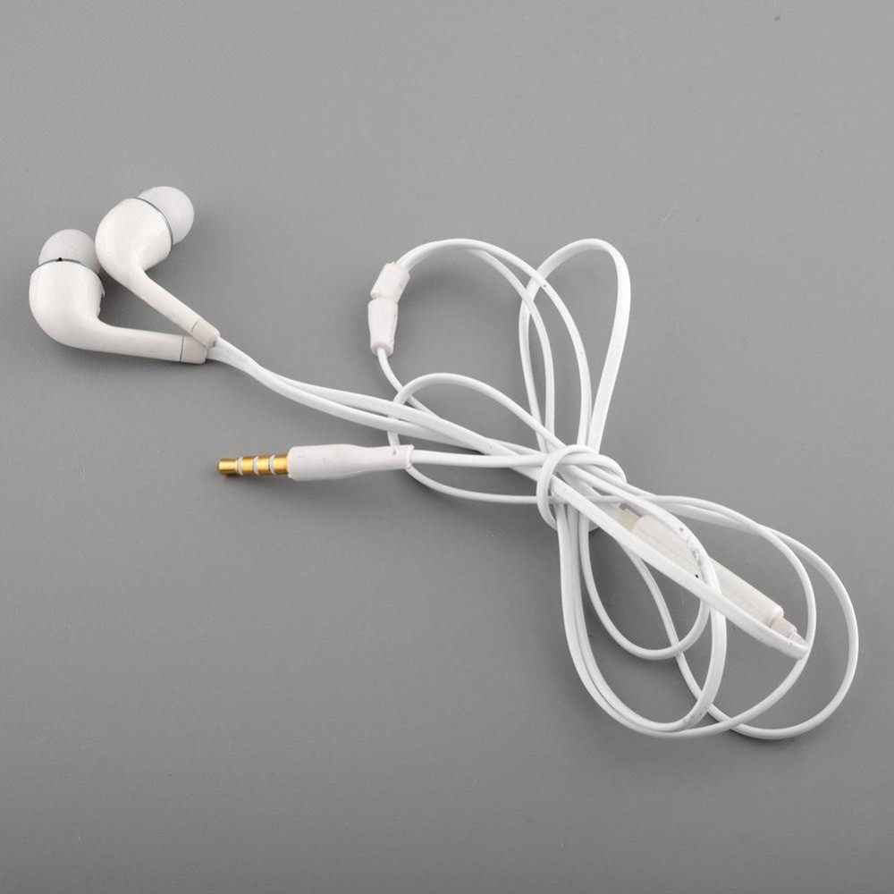 White Handsfree Headset In Ear Earphones For SAMSUNG GALAXY S4 With Remote With MIC Hot Sale