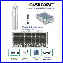 Solar water pump, solar pump,24v solar water pump,  free shipping, 5years warranty Model No.:JS3-1.8-100(China (Mainland))