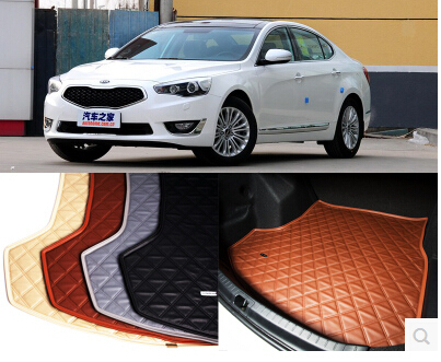 Good! Special trunk mats for KIA K7 2014 durable waterproof leather luggage carpets for KIA K7 2013-2011,Free shipping<br><br>Aliexpress