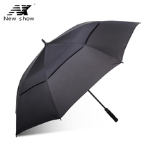 Buy Long handle umbrella men umbrella oversized windproof straight handle golf umbrella double 145cm large umbrella cloth wind for $23.39 in AliExpress store