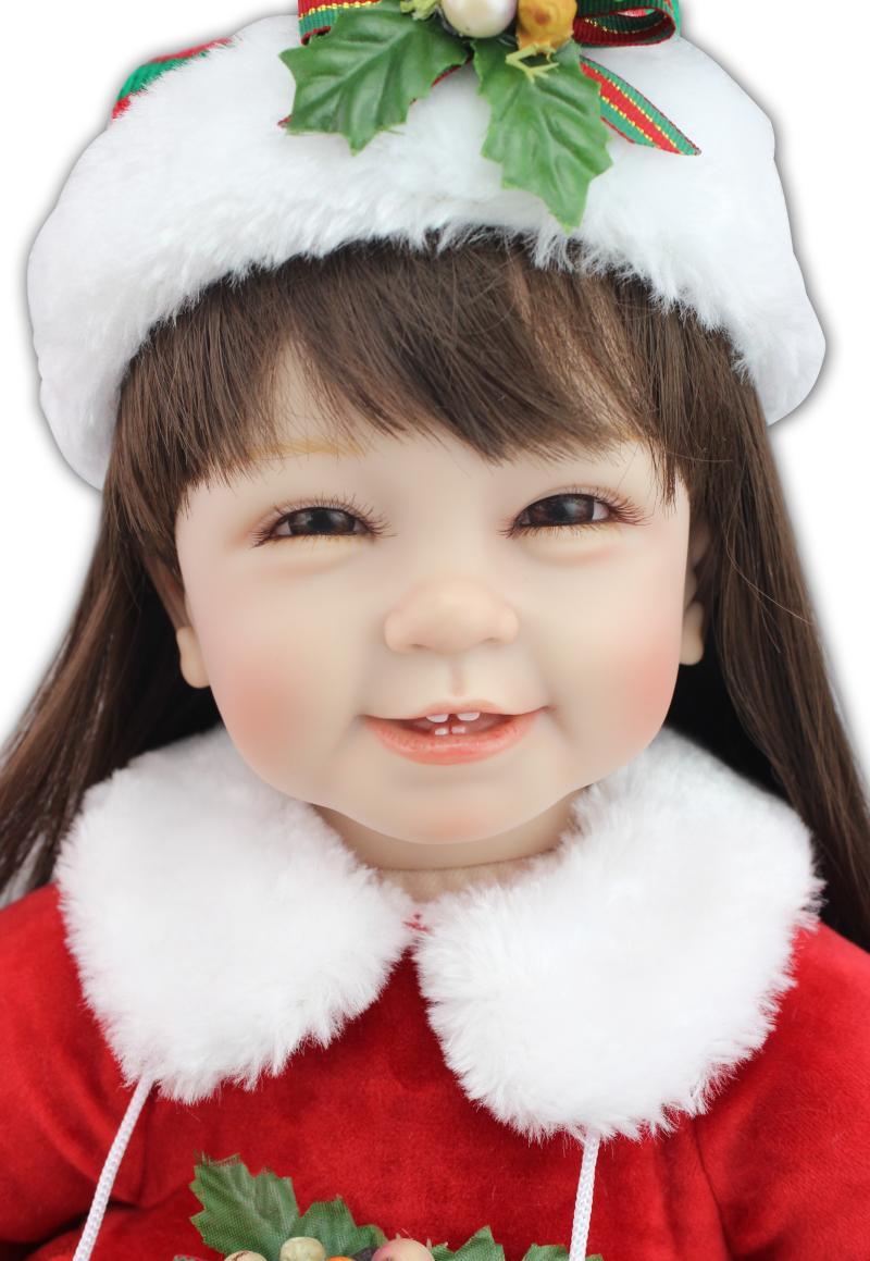Фотография 22 inch 55cm  baby reborn Silicone dolls, lifelike doll reborn babies toys for girl princess gift brinquedos  Children