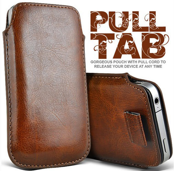 Common Sleeve Bag 4 5 inch Phones Lichi Leather Pull Tab Pouch Case Google Nexus LG G2 Xiaomi 2 3 Hongmi - Huaqiang On Line store