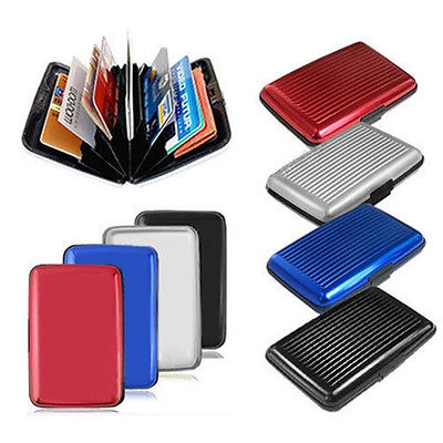 Fashion High Quality Waterproof Business ID Credit Card Wallet Holder Aluminum Metal Case Box(China (Mainland))
