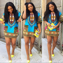 Women African Clothing Traditional African Fashion Design Dashiki Tribal Print Blouse Unisex 100% Summer Loose Fit Top Dress 11