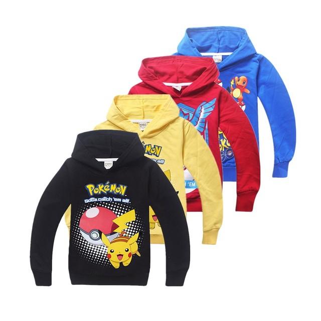Многоцветный Руно Покемон идут Дети Балахон Мальчиков Толстовки Кофты детская Одежда Vingadores Moleton Infantil Casaco
