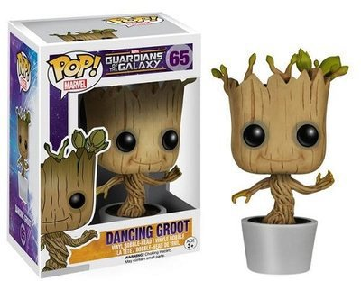 Genuine FUNKO POP 10cm Marvel Guardians of the Galaxy Groot action figure Bobble Head Classic Toys new box for Car Decoration(China (Mainland))
