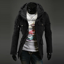 2015 new winter men s casual luxury personality double collar jacket free shipping A06 5609