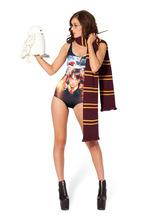 New 2014 Black Milk Brand Sexy One Piece Swimsuit Batman Swimsuit Cape Women Swimwear Print Bathing