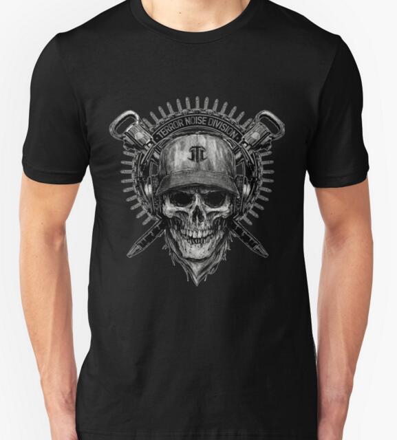 Hot New 2015 Terror Noise Division short sleeve clothing men's t shirt brand man T-Shirts man O-neck t shirt men and boy(China (Mainland))
