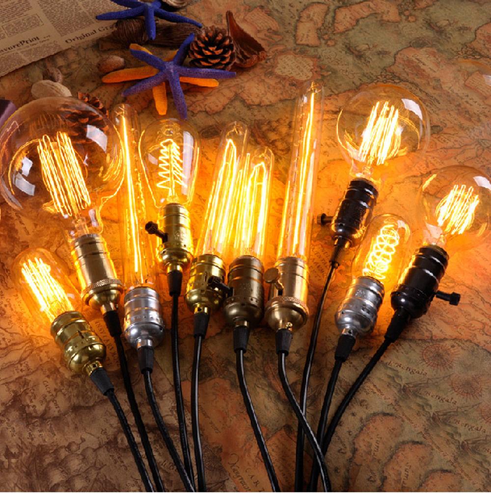 Home LED Bulbs Filament Light Vintage Retro Antique Industrial Style Lamp Bulb T30-185 Tungsten Bulb E27 ST64 Globe Edison Light(China (Mainland))