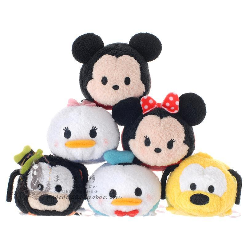 3.5'' Tsum Tsum Plush toy Mickey doll Duck toys Cute elf doll Screen Cleaner tsum tsum mini toy juguetes Free Shipping(China (Mainland))