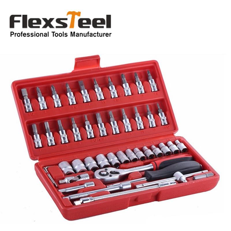 Flexsteel 46pcs Socket Spanner Set 1/4