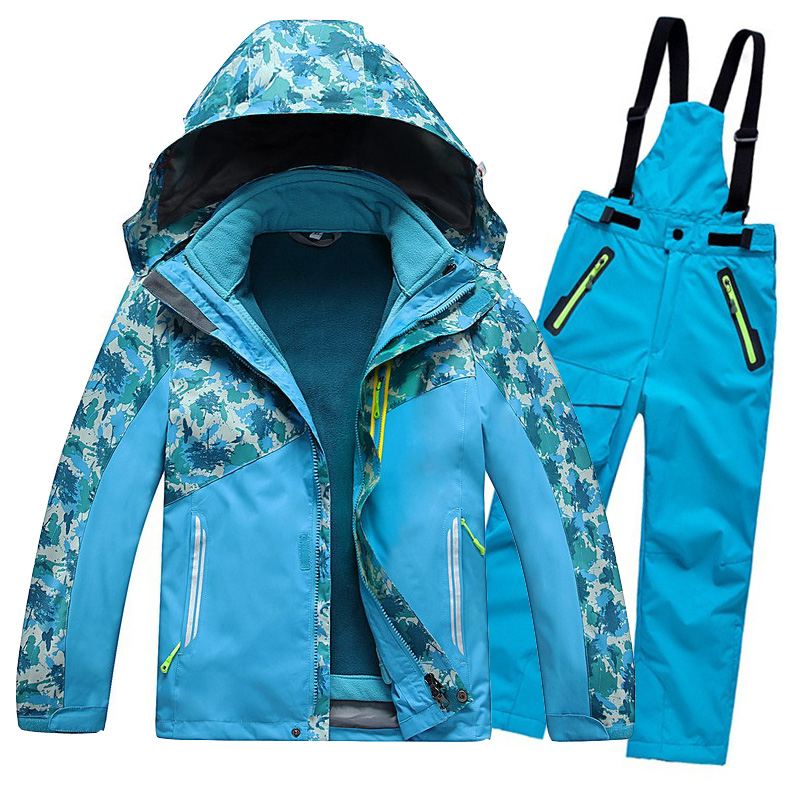 DHL Free Shipping Outdoor Children Clothing Set Winter Ski Jackets + Pants Kids Snow Sets Warm Skiing Suit For Boys Girls<br><br>Aliexpress