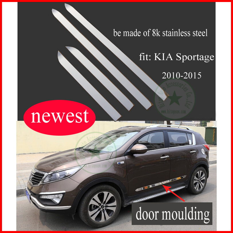 KIA SPORTAGE body scuff plate/ side door molding/moulding trim, 304 stainless steel, easy scratch, ( B model), 2010-2015 - Hitop Auto Accessories Co., Ltd-Global SUV Decoration store