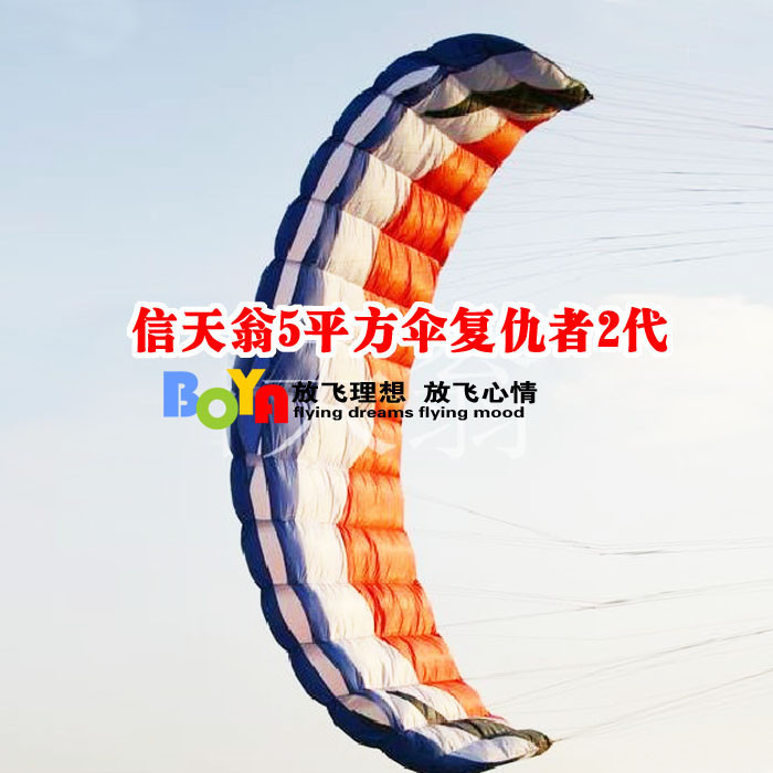 Outdoor sports professional stunt kite surfing albatross software / 5 square umbrella Avengers 2 generation / four-wire kite(China (Mainland))