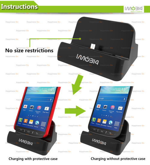 Wholesale Universal Desktop Charging Cradle, Docking Station, Dock Charger for Samsung Galaxy Note 4, 2,3, S4, S5(China (Mainland))