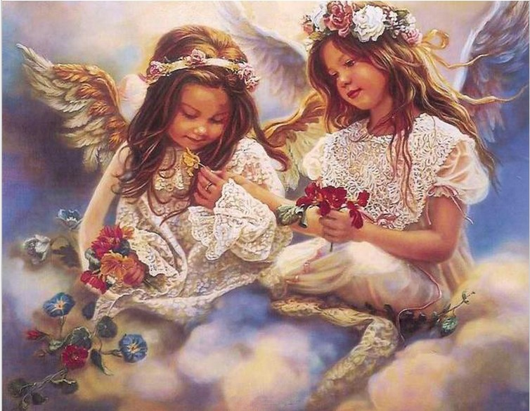 2015 NEW DIY 3D Diamond Painting girls baby angel Wing canvas oil yarn dyed Handicraft Cross Stitch household decoration B440(China (Mainland))