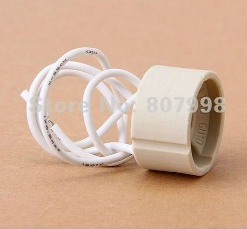 Free shipping, 2015 COMBO 20pcs GU10 Socket Ceramic LED Halogen Bulb Lamp Light Holder 2A 250V(China (Mainland))
