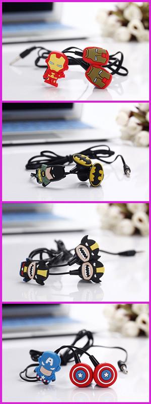 New cartoon stereo headphones  earphones  A Man model in-ear 4 style headset  /free shipping