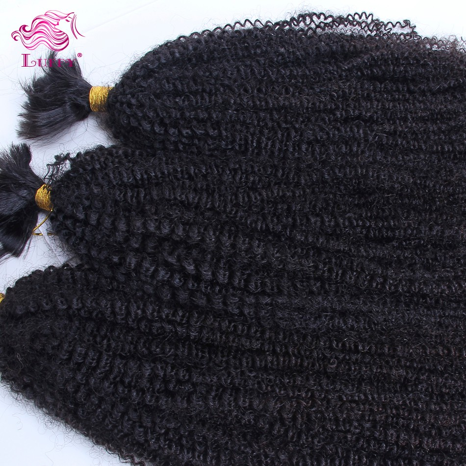Luffy 6A Grade Afro Kinky Curly Virgin Brazilian Hair Bulk Braiding Brazilian Kinky Curly Braiding Hair Virgin Human Hair Bulk