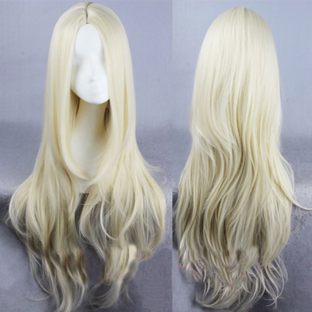 Sexy Lady Womens Long Wavy Full Wig Blonde No Bangs Heat Resistant Party<br><br>Aliexpress