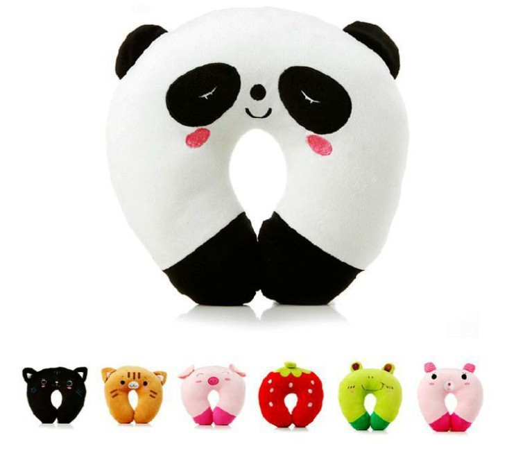 7 Color Home Supplies Cute U Shaped Healthy Massage Cartoon Pillow,Office Nap Neck Support Rest Travelling,Car Drive Pillows(China (Mainland))