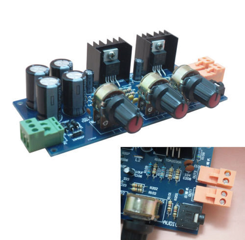 1Pcs New 2x18W 2.0 Double Track TDA2030A Amplifier DIY Kit(China (Mainland))