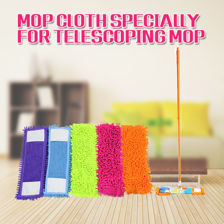 1PC mop head Chenille flat mop neadend Mops heads rotating easy cleaning wood floor mop head replacement replace the cloth(China (Mainland))