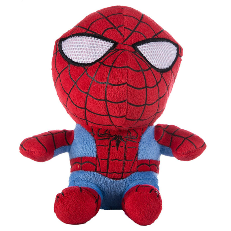 Hot Sale Spider-Man Plush Toys 18 cm Anime Toy For Children Birthday Gift Kid Animation Doll Toy 2016 New(China (Mainland))