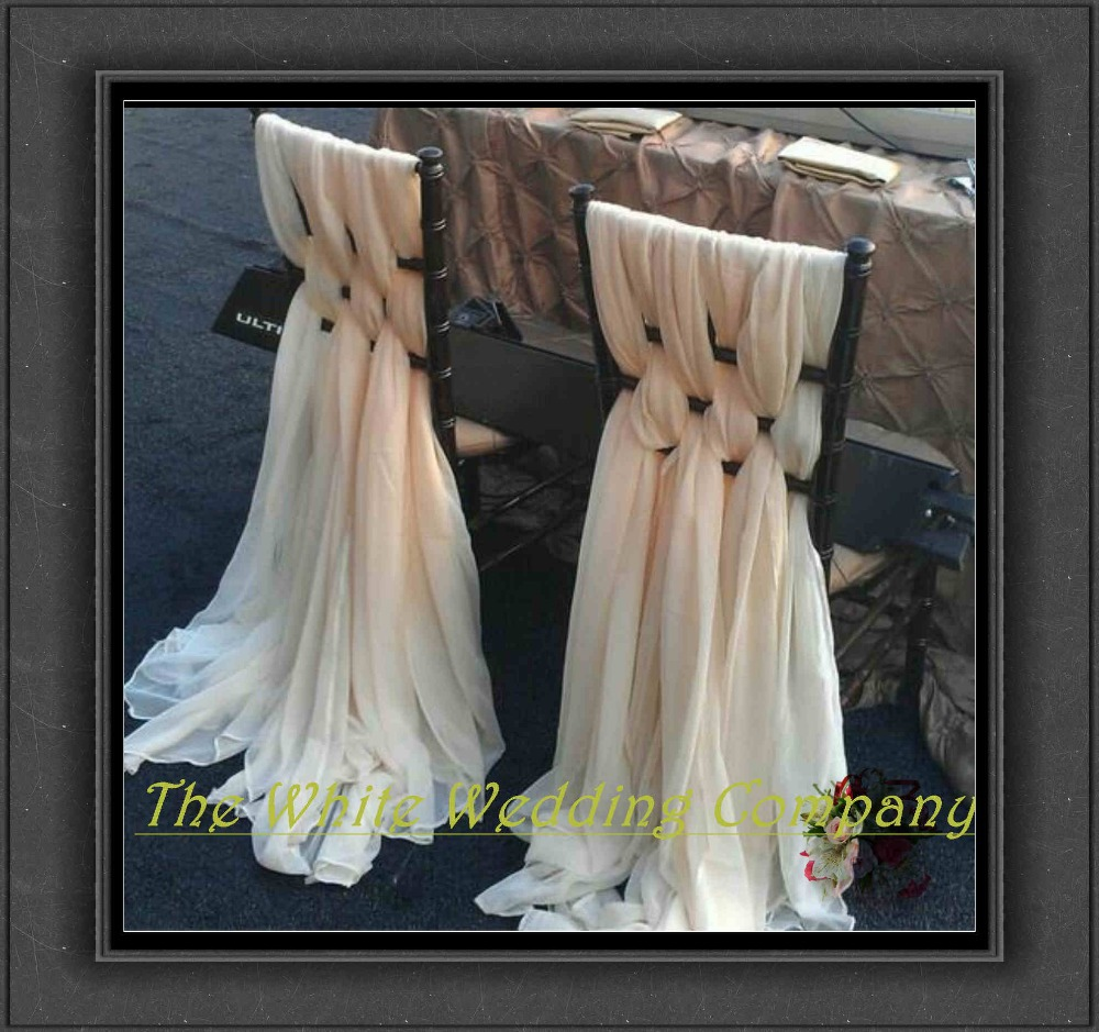 chair sashes for weddings ice chiffon chair cover sashes for chairs