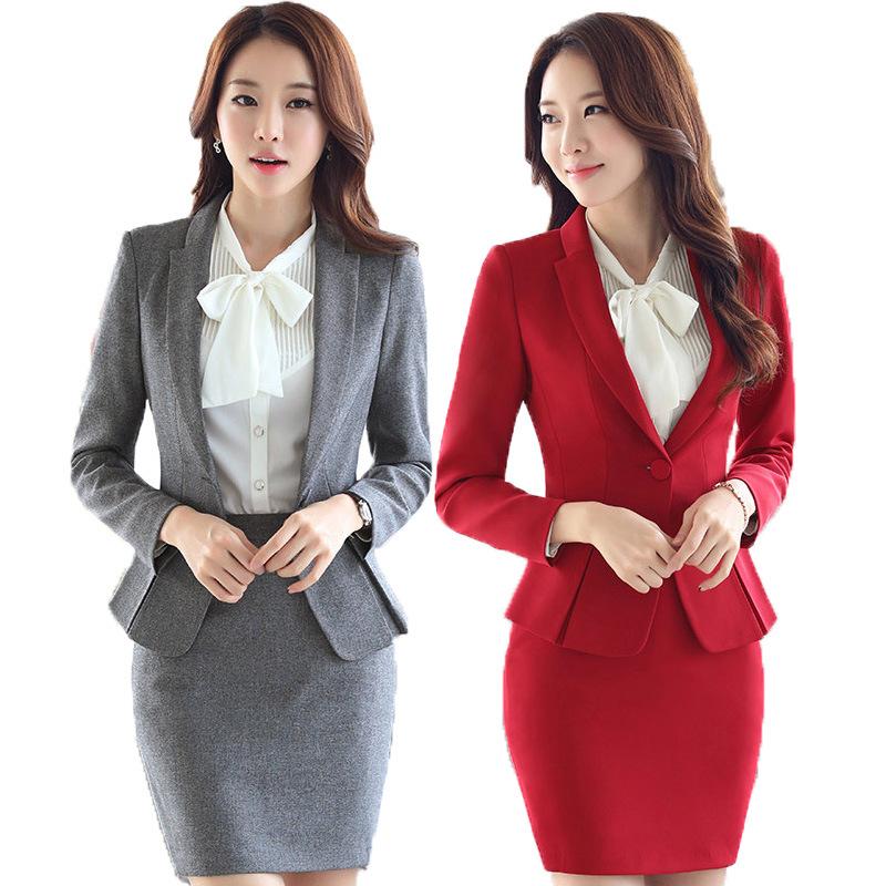 Женский офисный костюм с юбкой