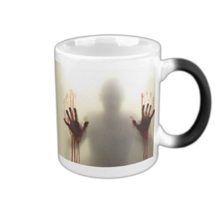 the walking dead mug zombie coffee mugs morph cup gifts magical heat sensitive Black colour change morphing Tea Cups white mug(China (Mainland))