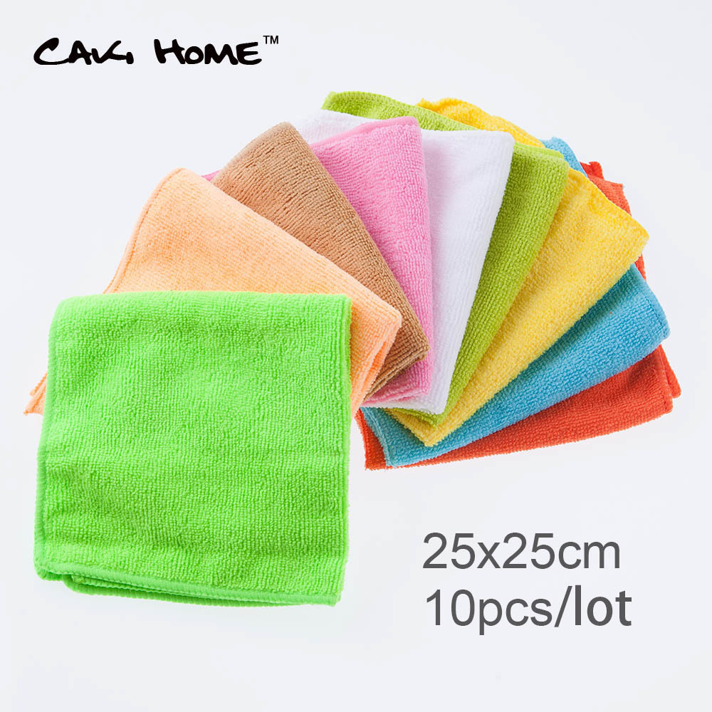 50pcs/lot 25*25cm multi color magic microfiber cleaning cloth absorbent towel kitchen quick dry cloth 2015 hot sale 15(China (Mainland))