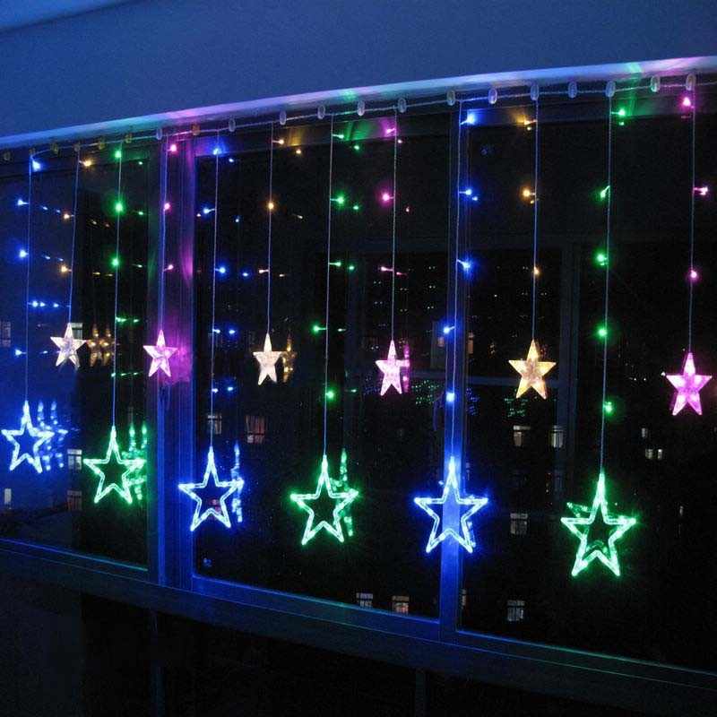 Luminaria Led Fairy String Light 2x1m 138 Smd 12 Star Led Curtain Light Living Room Background