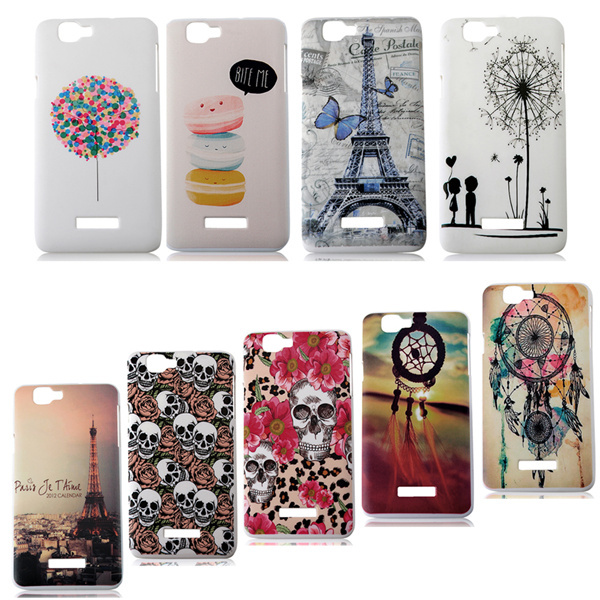 New Arrival Ultra Slim Colored Drawing Cool Skull 9 Patterns Hard Plastic Phone Back Protective Cover Case For Wiko Rainbow(China (Mainland))