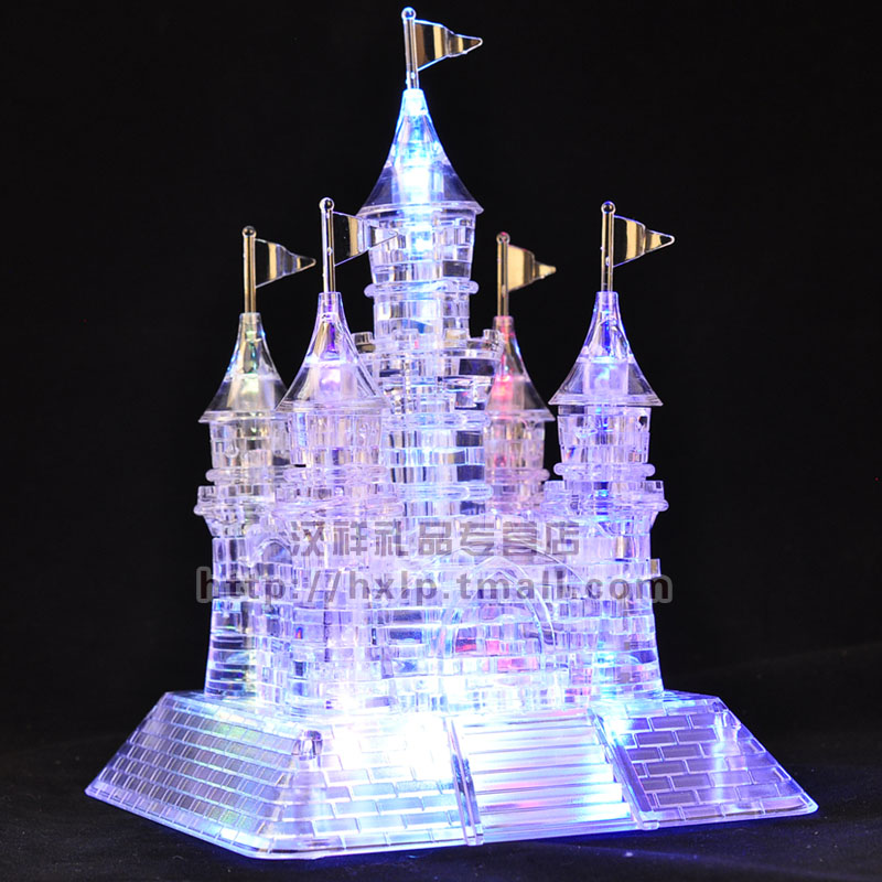 3D three-dimensional crystal puzzle / flash music Castle / 105 assembled model(China (Mainland))