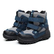 2016 Nueva prueba de agua antideslizante botas de los niños de invierno botas de nieve del bebé del invierno al aire libre de algodón caliente botas de nieve niño chico zapatos(China (Mainland))