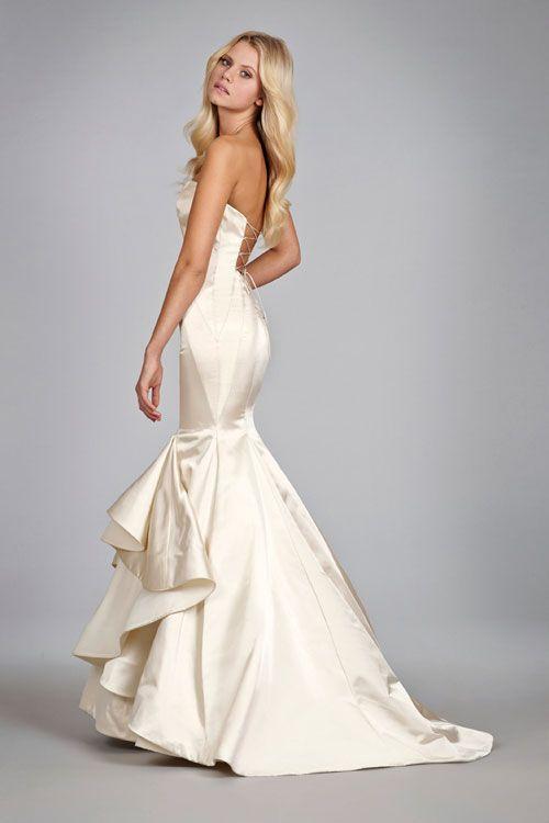 Элегантные Свадебные Платья Noiva Милая Рукавов Атласная Русалка Свадебное Платье, босоножки, Н. М. 616