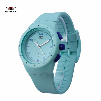 EPOZZ Ladies Swimming Silicone Sports Watch Girl Quartz Analog Clock Waterproof reloj mujer relogio feminino montre femme 859