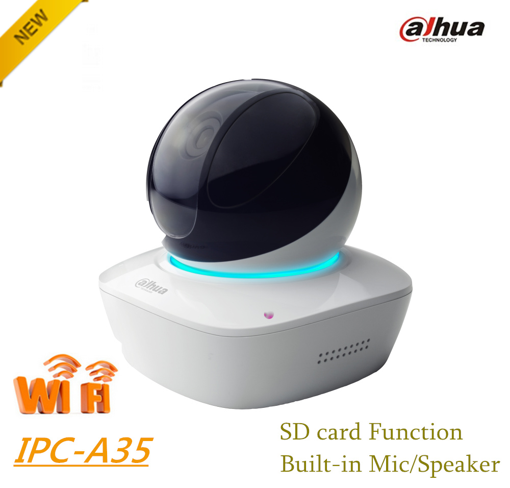 Dahua 3MP Wi-Fi PT Camera IPC-A35 Wireless Network Camera Easy4ip cloud support Sd card up to 128G Built-in Mic & Speaker(China (Mainland))