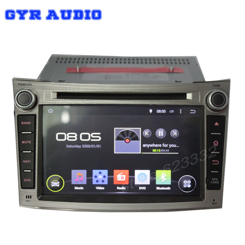 quad core car GPS navigation Android 4.4 dvd radio stereo player subaru Legacy outback WIFI 3G usb 1024*600 screen - GYR Audio store
