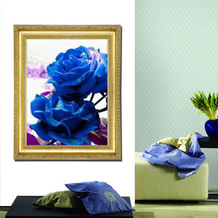 Free Shipping rose DIY unfinished Cross stitch big picture Have been printed Embroidered cloth size: 63 * 80 cm(China (Mainland))