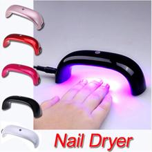 mini dryer LED nail dryer gel polishlamp for curing dryer curing lamp led rainbow for nail art tools free shipping(China (Mainland))