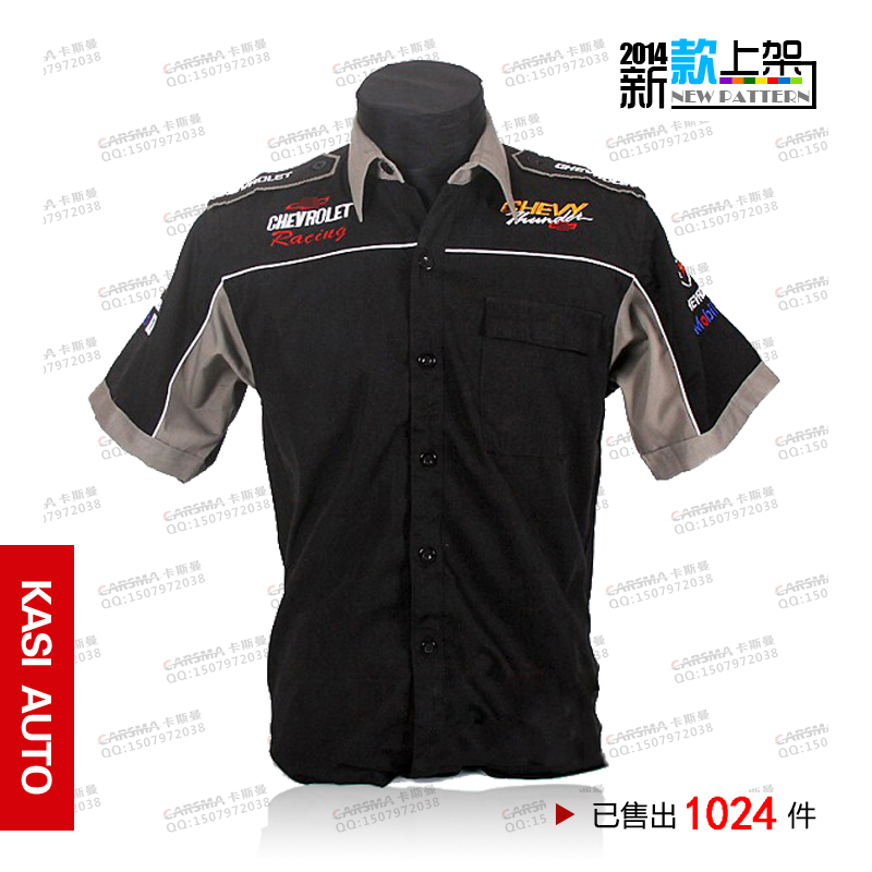 Off-road wrc automobile F1 race chevrolet embroidery 4s car shirt Motorcycle Clothing Motorbike Cycling Bike Racing Jerseys - Fashion ABC CO.,LTD store