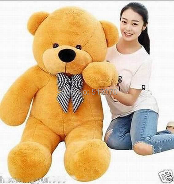 GIANT 120CM 47'' BIG CUTE brown PLUSH TEDDY BEAR HUGE SOFT 100% PP COTTON TOY(China (Mainland))