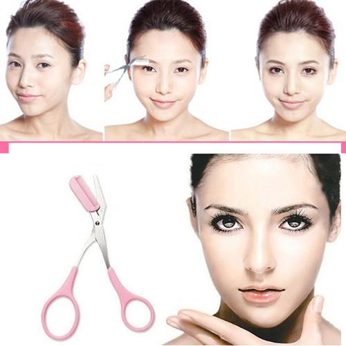 Alta qualidade tesoura de cabelo tesoura sobrancelha Trimmer sobrancelha pente cílios maquiagem cosméticos para mulheres # ND063