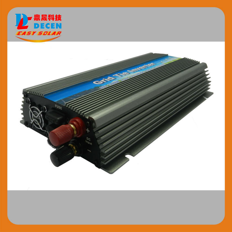 1000W Solar High Frequency Pure Sine Wave MPPT Grid Tie Inverter,input 22-50VDC Output 190-260VAC, For Alternative Energy(China (Mainland))